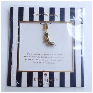 "Kate Spade ""How Charming"" Bracelet Shoe Charm"